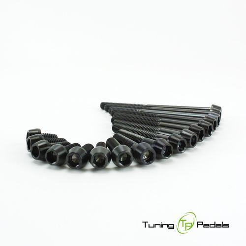 Innensechskant konischer Kopf Titan Schraube M5 x 12mm Schwarz